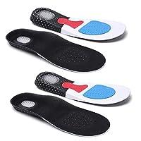 [ワンダーラボ] 衝撃吸収インソール 中敷き 2足セット 土踏まずパッド・かかとエアークッション付き サイズ調整可能 消臭加工 男性用/女性用 (スニーカー ブーツ パンプス 革靴用) Y3 (メンズ (約25~28cm) 2個)