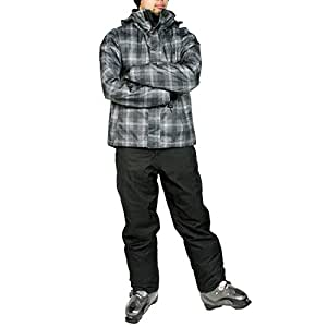 VAXPOT(バックスポット) スキーウェア 上下セット メンズ 【耐水圧5000mm 透湿3000g 撥水加工】 VA-2016 CH-BLK/BLK L(男性用L)