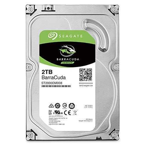 Seagate BarraCuda 2TB【 2年保証 】正規代理店 3.5インチ HDD 内蔵 ハードディスク SATA 6Gb/s 64GB 7200rpm デスクトップPC向け