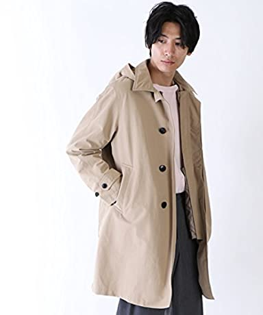 Cordura 3-way Balmacaan Coat 15256200480: Beige