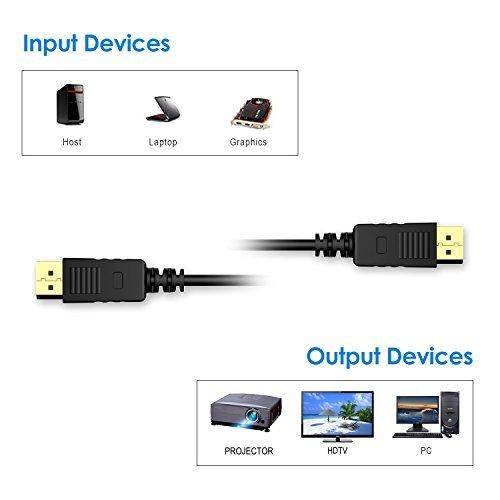 『Rankie DP変換ケーブル 金メッキコネクター搭載 DisplayPort DisplayPort 4K解像度対応 0.9m』の3枚目の画像