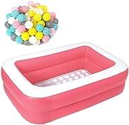 MRG 子供用プール 家庭用 150 × 100 × 43cm 長方形 ビニールプール 子供 プール 深い ベランダ おもちゃ