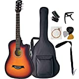 juicy guitars ジューシーギターズ アコースティックギター 初心者セット 合成樹脂製 JCG-01S/VS (チューナー/カポ/ストラップ/ソフトケース/交換弦/ピック/ピックケース付属)