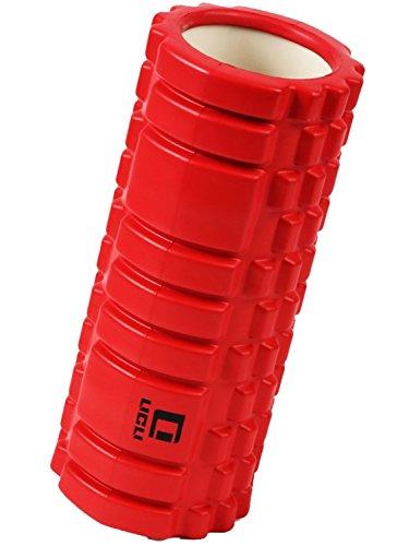 LICLI フォームローラー 筋膜リリース トリガーポイント グリッド ミニ ストレッチローラー 「 マッサージ トレーニング ストレッチ ローラー ハーフ ヨガポール 」「 肩こり 腰痛 」 説明書つき 7色 (レッド)
