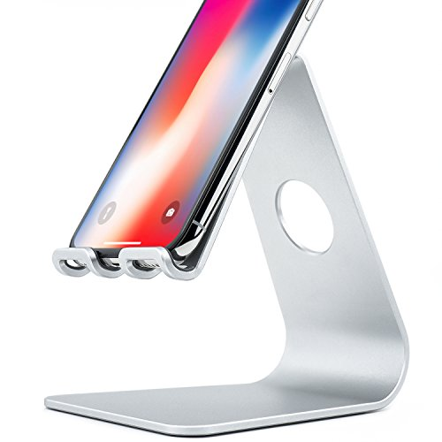 Rampow スマホ スタンド シンプルで長持ち アルミニウム製充電スタンド iPhoneスタンド アンドロイド用スマホスタンド スマホホルダー 卓上