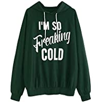 SweatyRocks Women's Hoodie Letter Print Long Sleeve Hooded Sweatshirt Pullover Top