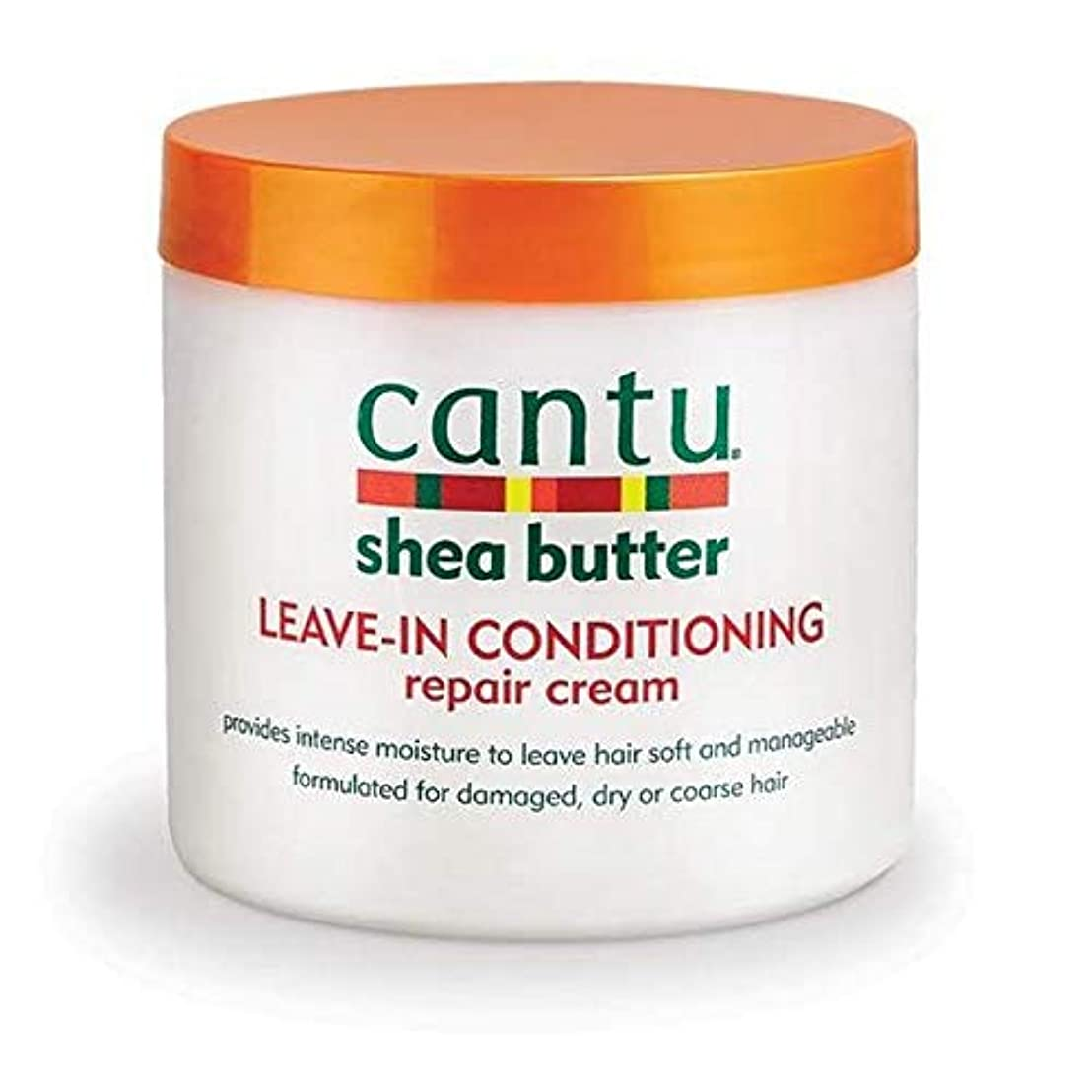 迅速ビジュアル鉱石[Cantu ] エアコン修理クリーム453グラムでカントゥシアバター休暇 - Cantu Shea Butter Leave in Conditioning Repair Cream 453g [並行輸入品]