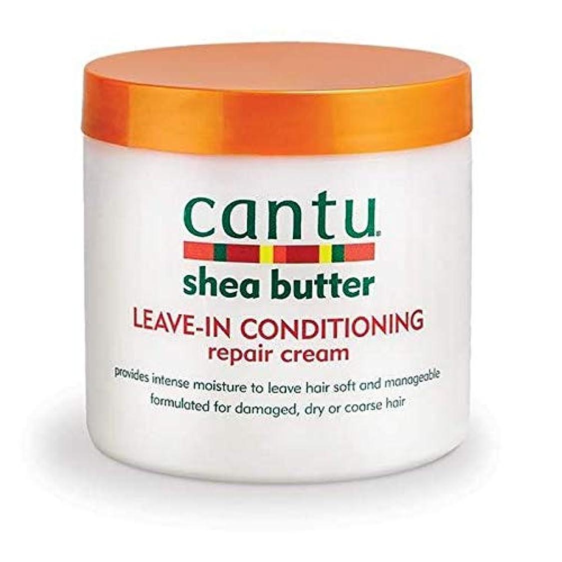 [Cantu ] エアコン修理クリーム453グラムでカントゥシアバター休暇 - Cantu Shea Butter Leave in Conditioning Repair Cream 453g [並行輸入品]