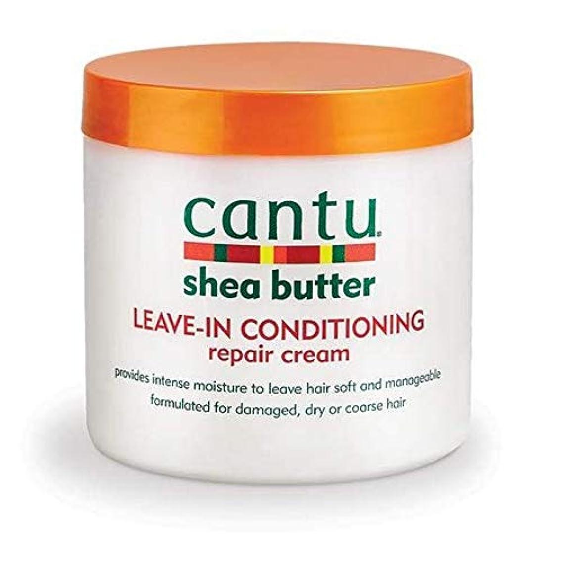 合併床ホイットニー[Cantu ] エアコン修理クリーム453グラムでカントゥシアバター休暇 - Cantu Shea Butter Leave in Conditioning Repair Cream 453g [並行輸入品]