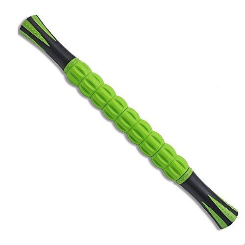 ポテンシック(Potensic) マッスルローラー ・スティック マッサージローラー マッサージ リフレッシュ 活性化 トリガーポイント&筋筋膜リリース・ローリングマッスルマッサージャー(青/緑/黒)