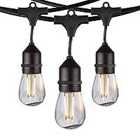 salking LED屋外文字列ライト、vomono防水文字列ライト 48ft String Light クリア s14 string light-01