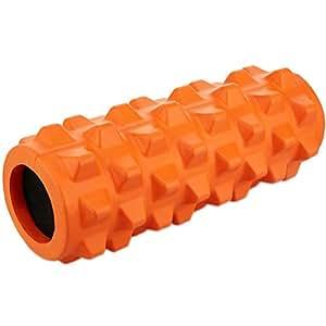 Motomo フォームローラー ストレッチローラー 筋膜リリース マッサージ 腰痛・肩コリ・筋肉痛を改善 (オレンジ)
