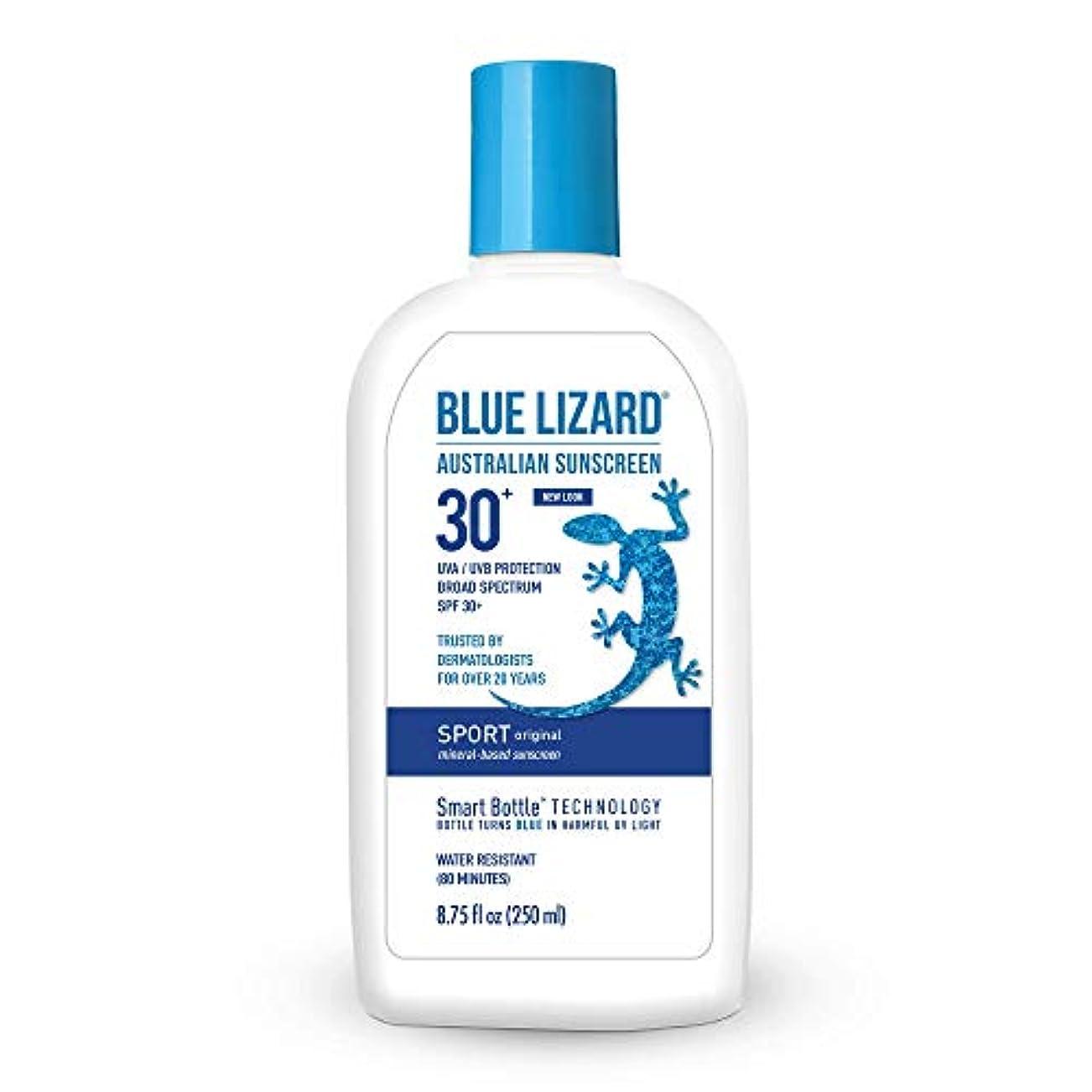 虫高さヒューズBlue Lizard Australian SUNSCREEN SPF 30+, Sport SPF 30+ (8.75 oz) by Blue Lizard