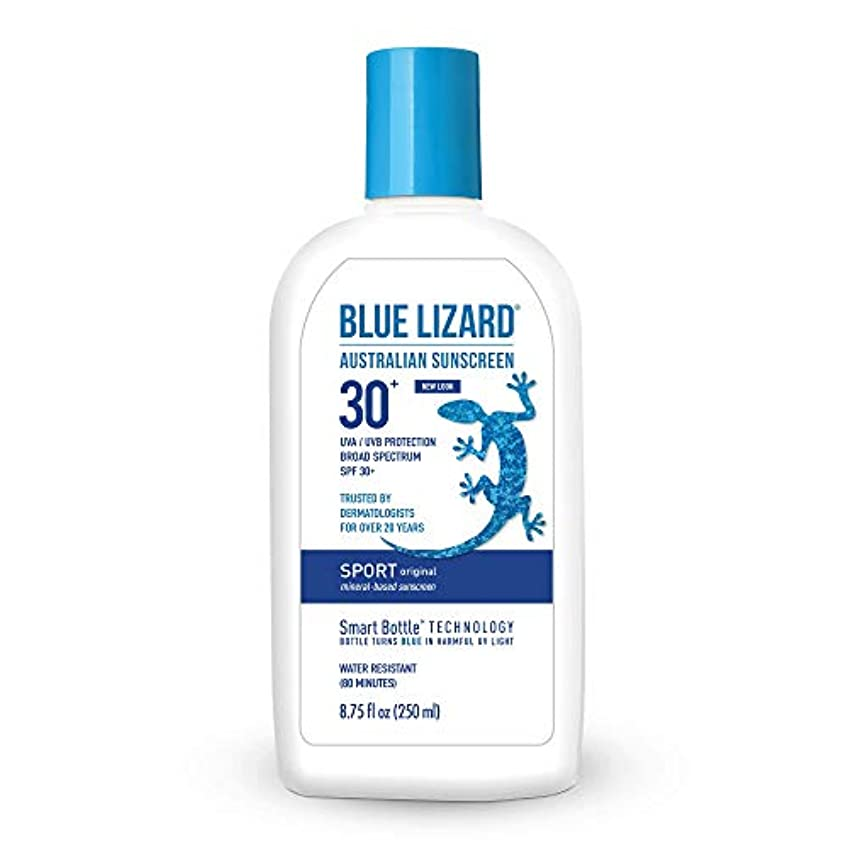 花弁止まる明快Blue Lizard Australian SUNSCREEN SPF 30+, Sport SPF 30+ (8.75 oz) by Blue Lizard
