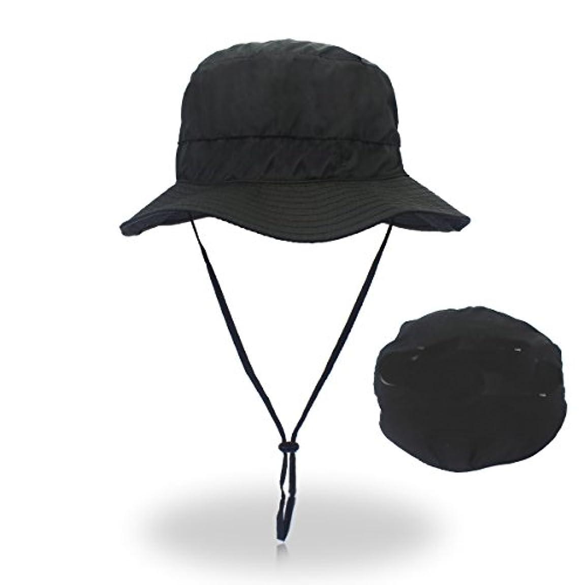 計算可能パースブラックボロウ土砂降り釣り帽子,バケットハット 360度 日よけカバー 紫外線防止 超軽量 メンズ レディース