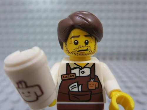 The Lego Movie Larry the Barista Coffee Minifigure Series 71004 by LEGO [並行輸入品]