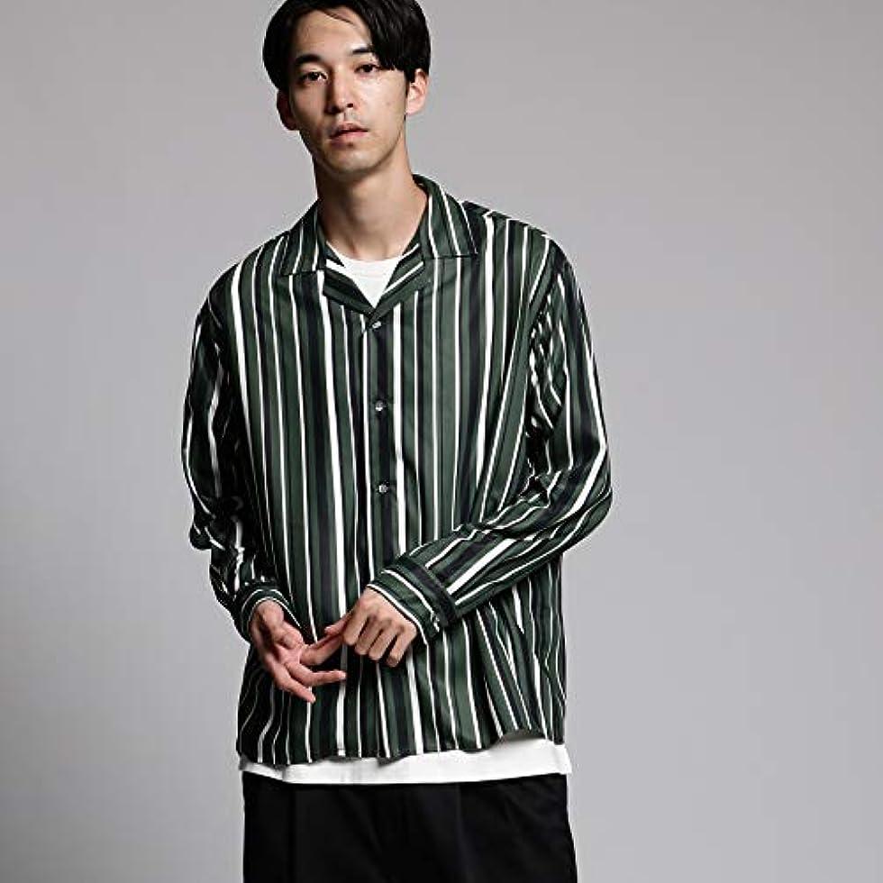 王室あごトラフィック(ティーケー タケオキクチ) tk.TAKEO KIKUCHI マルチストライプ オープンカラーシャツ 17085114