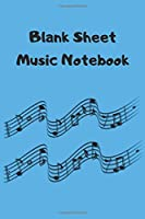 Blank Sheet Music Notebook: Music Manuscript Paper , White Marble Blank Sheet Music , Notebook for Musicians , Staff Paper , Composition Books Gifts, 120pages