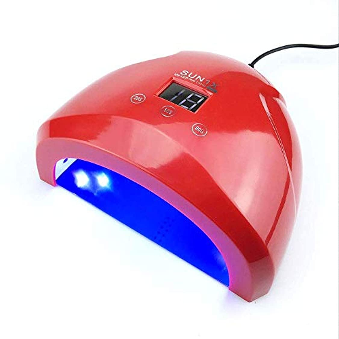 分布ロッドまだらネイルドライヤー36ワットuvランプledランプネイルドライヤースマートセンサーダブル電源ネイルランプ用ネイルuvジェルポリッシュジェルネイルアートツール
