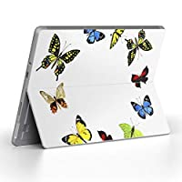Surface go 専用スキンシール サーフェス go ノートブック ノートパソコン カバー ケース フィルム ステッカー アクセサリー 保護 蝶 カラフル 014704