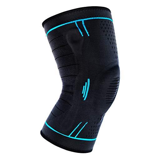 BoarCroc 膝サポーター スポーツ 痛み しっかりサポート サッカー ヒザ サポーター 膝蓋骨固定 半月板損傷 痛み防止 怪我防止 関節靭帯保護 ひざ 膝固定 バレーボール テーピング 左右兼用 1枚入り BoarHXGJ-L L