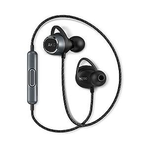 AKG N200 WIRELESS Bluetoothイヤホン カナル型/AAC/apt-X対応/3ボタンリモコン/通話マイク付き ブラック AKGN200BTBLK 【国内正規品/メーカー保証1年付き】
