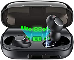 【最新版 】Bluetooth イヤホン Hi-Fi 3Dステレオサウンド 完全 ワイヤレス イヤホン 自動ペアリング 自動電源ON/OFF ブルートゥース イヤホン Siri対応 IPX7级防水 左右分離型 片耳&両耳とも対応 マイク内蔵...