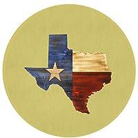 西テキサス州の地図フラグ 快適なエントランスラウンドエリアマット玄関滑り止めバッキング寝室の床カーペットバスルームキッチン敷物柔らかいペットパッド家の装飾
