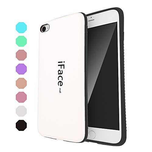 (Bidear)iPhone7Plusケース/iPhone8Plusケース iFace mallケース 全面保護 耐衝撃 カバー 白