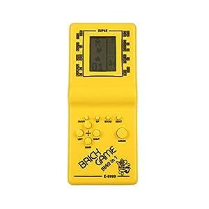 Haihuic レトロクラシックテトリスハンドヘルド LCD電子ゲームおもちゃの楽しいレンガゲームの수수께끼のおもちゃ