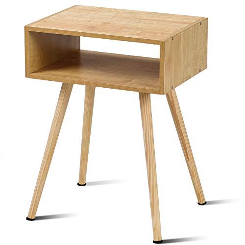 RoomClip商品情報 - BestBuy サイドテーブル サイドチェスト ナイトテーブル ベッドサイドテーブル ソファサイドテーブル チェスト 滑り止めシール付き 木製 (四角273)