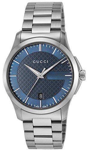 [グッチ]GUCCI 腕時計 Gタイムレス ブルー文字盤 YA...