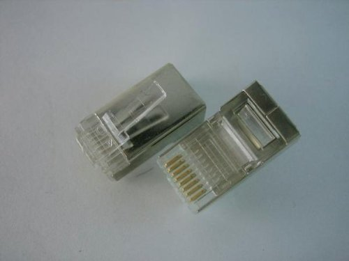 [해외]LAN 케이블 커넥터 RJ45 8 극 8 심 CAT6 STP 실드 대응 10 개/LAN cable connector RJ 45 8 poles 8 leads CAT 6 STP shield compatible 10 pieces