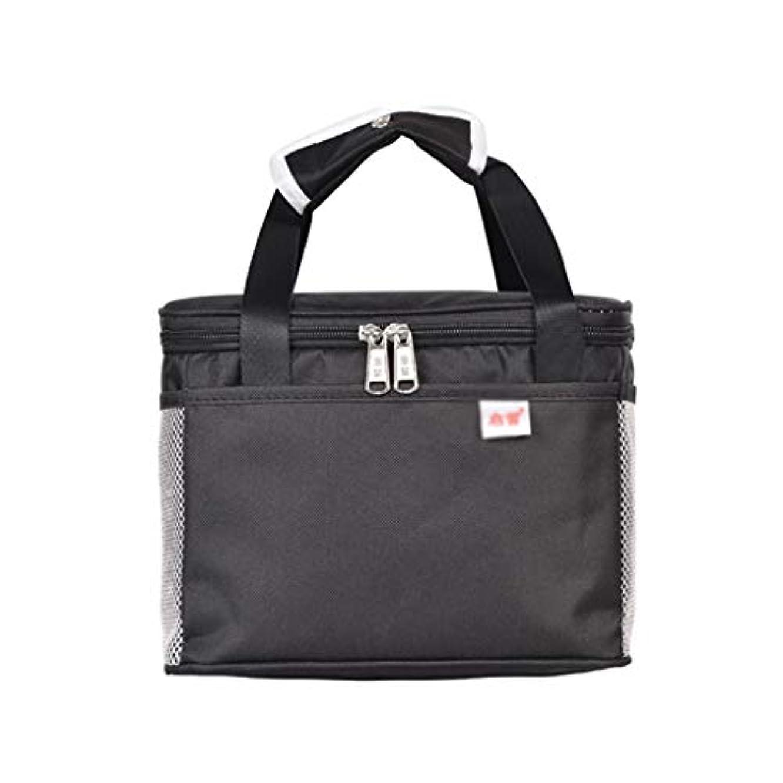 遡るアームストロング繊毛厚い物質的な弁当袋、高容量のピクニック袋を運ぶこと容易なオックスフォードの布の学生の多機能の絶縁された袋 (色 : D, サイズ さいず : 29*22*24CM)