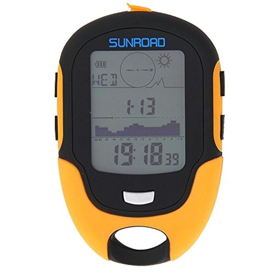 地震進行中スキニーDSLSM 多機能LCDデジタル高度計、コンパス、気圧計、温度計、湿度計、勇気予測、LEDトーチ、時計付き
