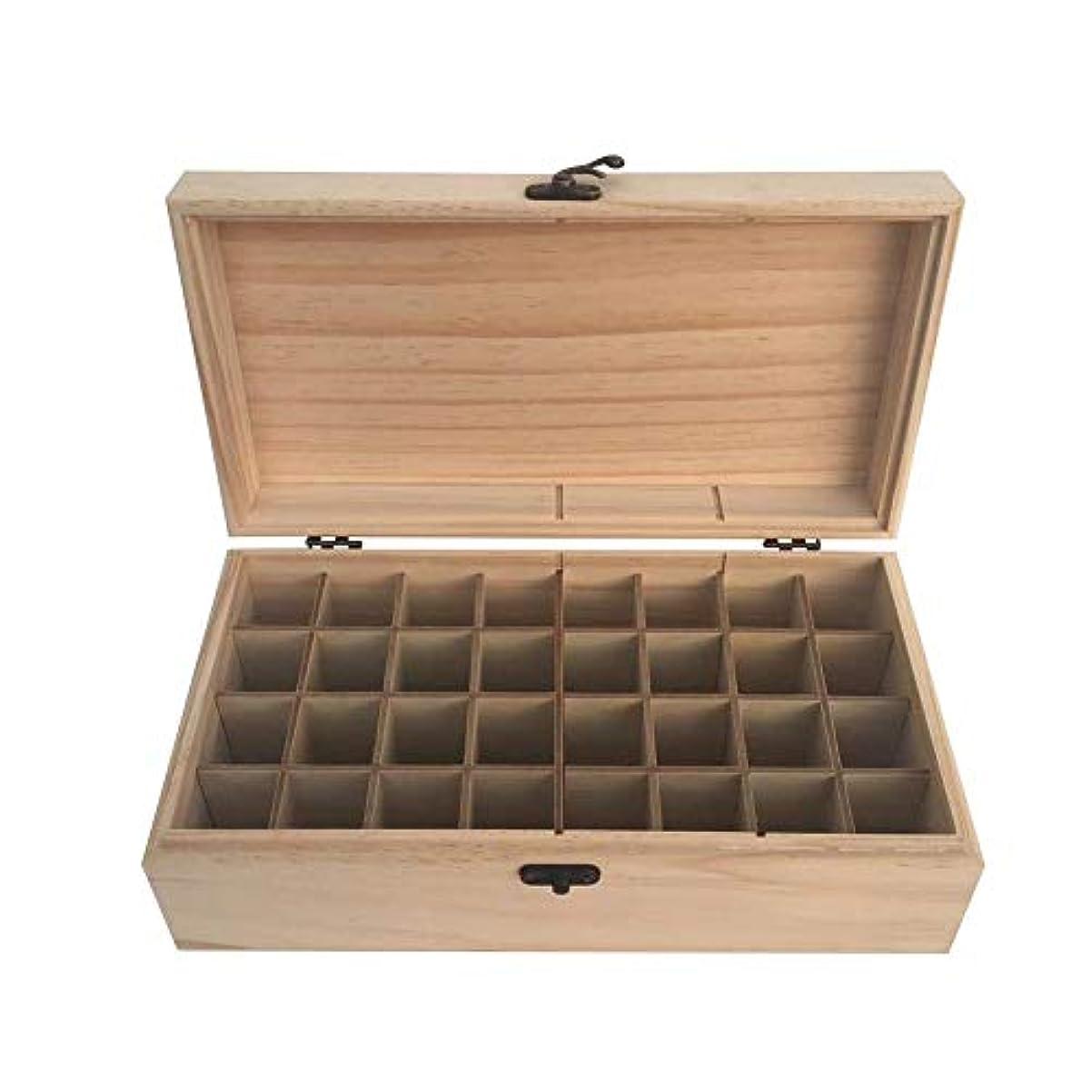 安全でない連鎖勇気エッセンシャルオイル収納ボックス 精油収納ケース 大容量 32本収納可能 取り外し可能 木製 環境に優しい 5ml~15mlの精油ボルトに対応 junexi