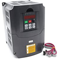 4KW インバータ 110V 3相 VFD スピードコントロール 36A 延長するケーブルと干渉防止フェライトリング付き Variable Frequency VFD Inverter CNC Router Milling Machine Spindle Motor Speed Control