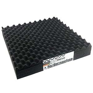 (ピコリコ) PicoRico 吸音 防音 ウレタンフォーム 波型 スポンジ ブラック 50cm × 50cm × 2.5cm 5枚 セット