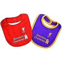 リバプール フットボールクラブ Liverpool FC オフィシャル商品 2018/19モデル 赤ちゃん?ベビー用 ビブ 2枚セット