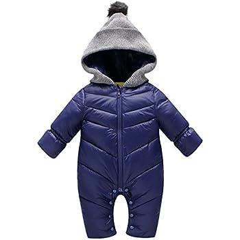 13e497c877d17 ベビー服 男の子 前開き ジャンプスーツ カバーオール 着ぐるみ 新生児 中綿 厚手 防寒 出産祝い ブルー 90