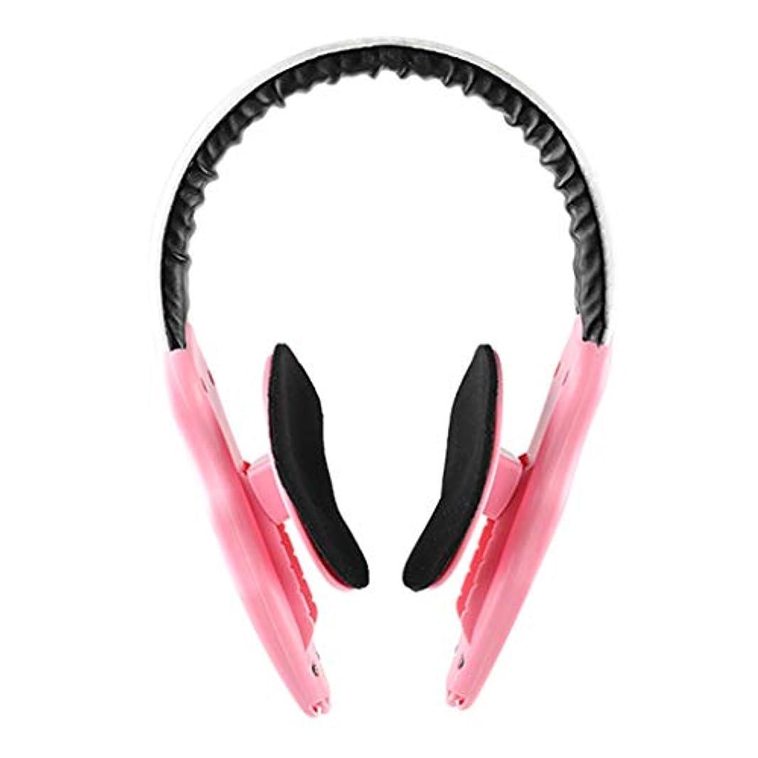 万歳唯物論ゴミ箱顔の減量 v フェース薄い顔アーティファクトリフティング楽器顔整形女性男性マッサージ,Pink