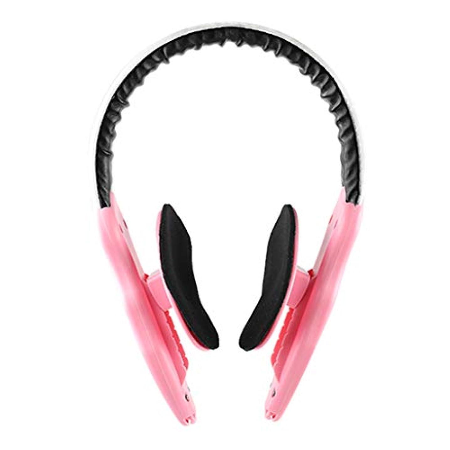 マチュピチュその結果批評顔の減量 v フェース薄い顔アーティファクトリフティング楽器顔整形女性男性マッサージ,Pink