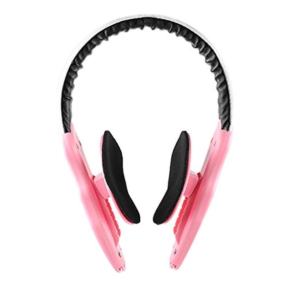 ささやき存在するフリル顔の減量 v フェース薄い顔アーティファクトリフティング楽器顔整形女性男性マッサージ,Pink