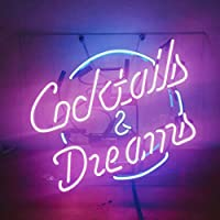 Cocktails and DreamsビールバーパブStore担任パーティーDecor Neon Signs 19x 15