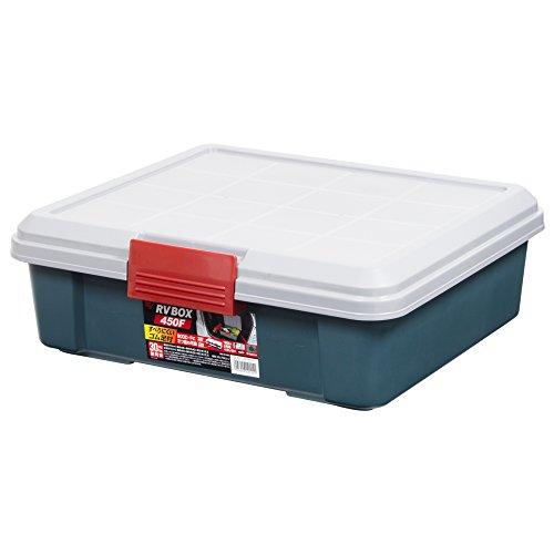 アイリスオーヤマ ボックス RVBOX 450F グレー/ダークグリーン 幅45×奥行40×高さ15.5cm