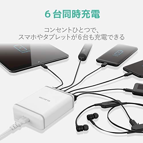 ELECOM(エレコム)『6ポートAC充電器EC-ACD01シリーズ』