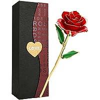 バラ 造花 ローズ Getonny 24K鍍金製 ホンコン フラワー ホワイトデー バレンタインデー ミツバー 結婚祝い お誕生日のギフト レッド