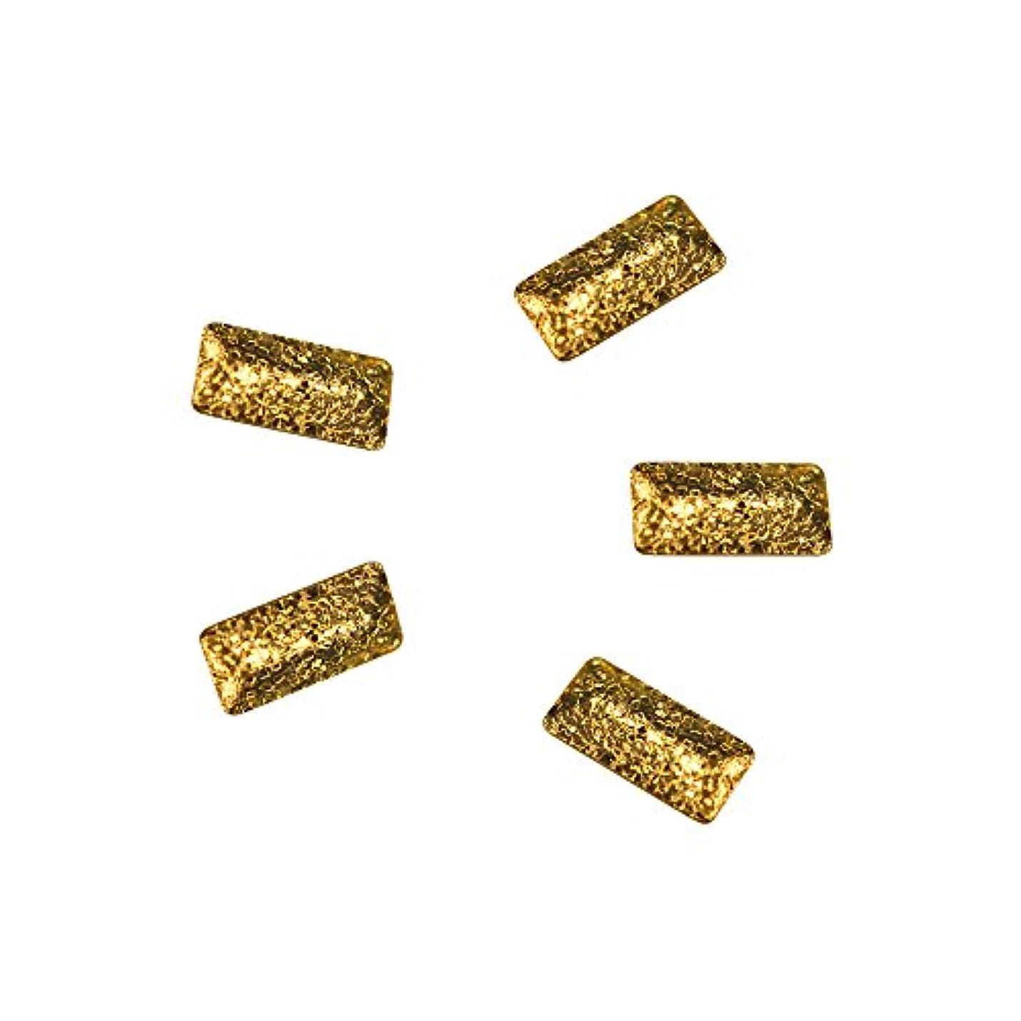 韓国語横向き上へBonnail ラフスタッズゴールド レクタングル 3×1.2mm 30P
