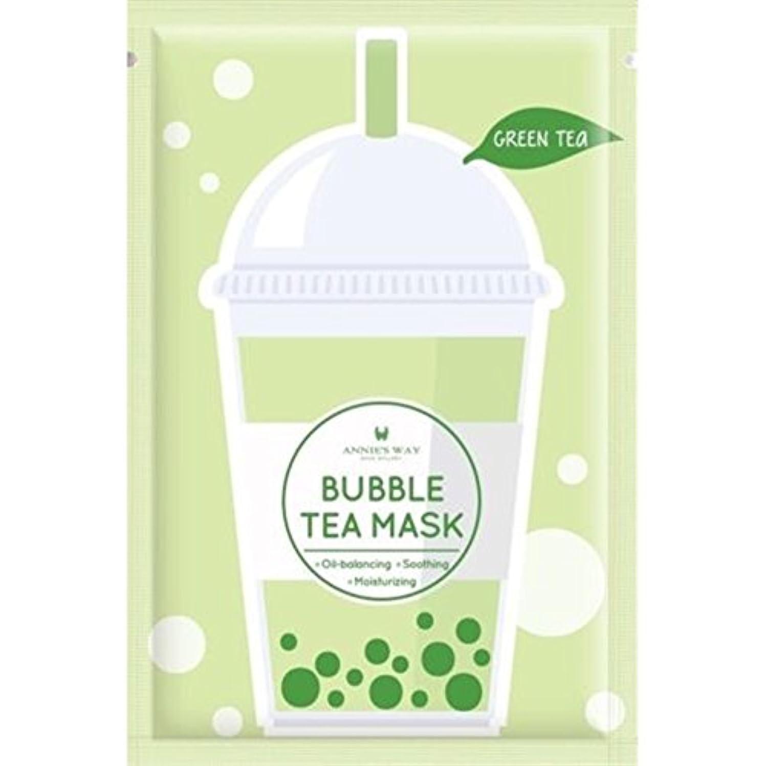 外国人同行する忠誠Annie's Way 人気 タピオカミルクティー シートマスク 全4種 (緑茶)