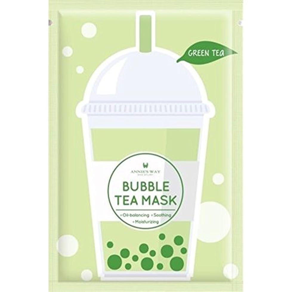 バルセロナバインド満員Annie's Way 人気 タピオカミルクティー シートマスク 全4種 (緑茶)